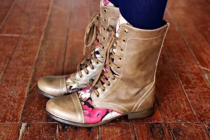Mod Podge boots