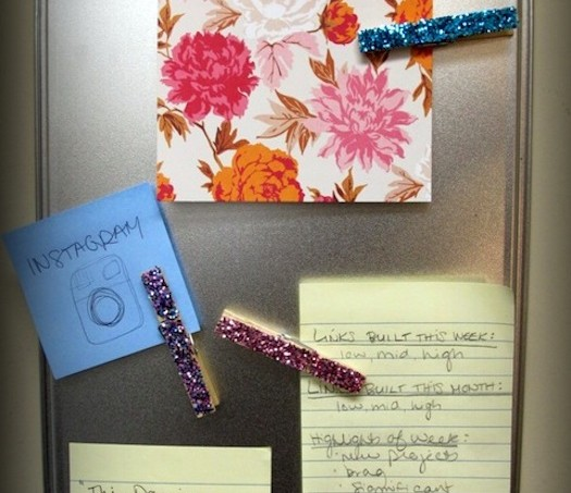 Mod Podge glitter magnets