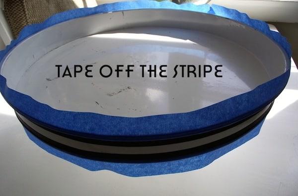 Tape off the Stripe