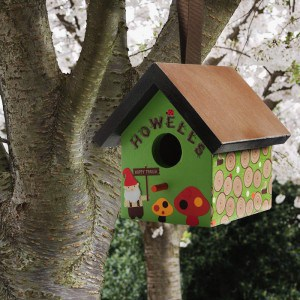 Gnomes live outdoors - so it only makes sense that they would turn a regular birdhouse into a Mod Podged gnome birdhouse. I love Mod Podge Outdoor!