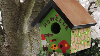 Turn a Wood Birdhouse Into a Gnome Birdhouse