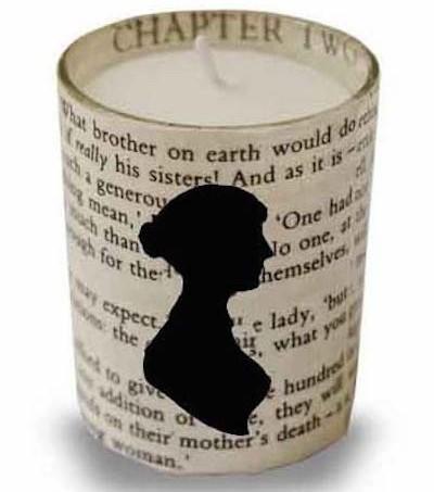 DIY Jane Austen votive candle holder