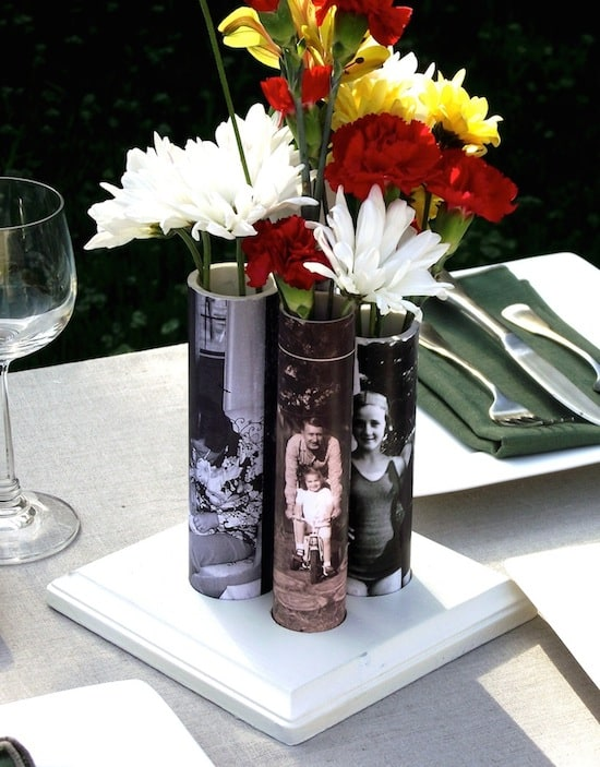 DIY vases made with PVC pipe