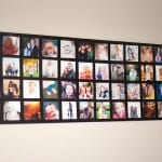 Mod Podge wall photo collage