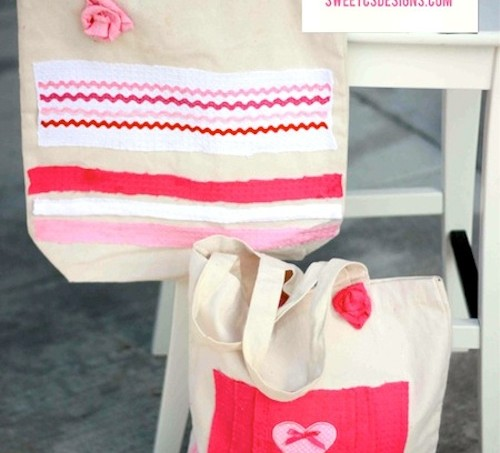 Now sew tote bags with embellishments