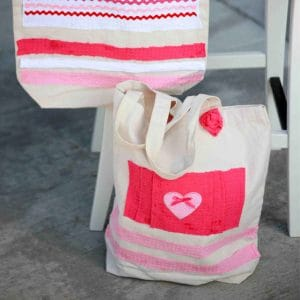 No sew tote bags with embellishments