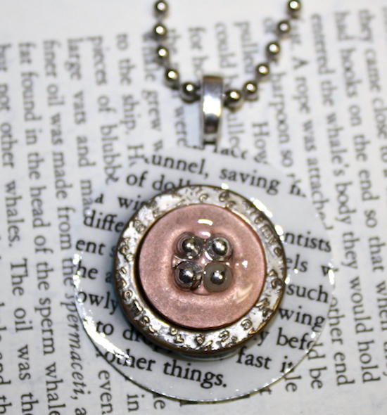 Book Page Mod Podge Pendants