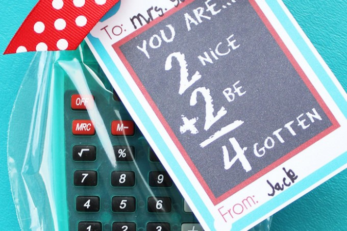 Calculator gift for teacher appreciation