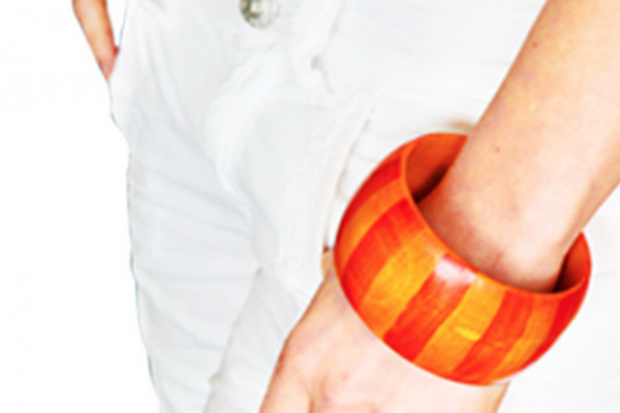 DIY tangerine tango bangle