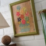 Make cheap wall art using scrapbook paper, Dimensional Magic, and a dollar store frame