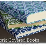 Mod Podge Fabric Covered Books