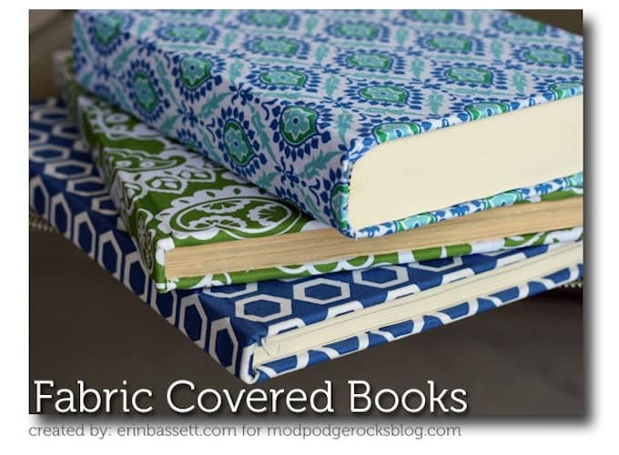 Fabric Hardcover Book : Fabric covered books for home decor mod podge rocks