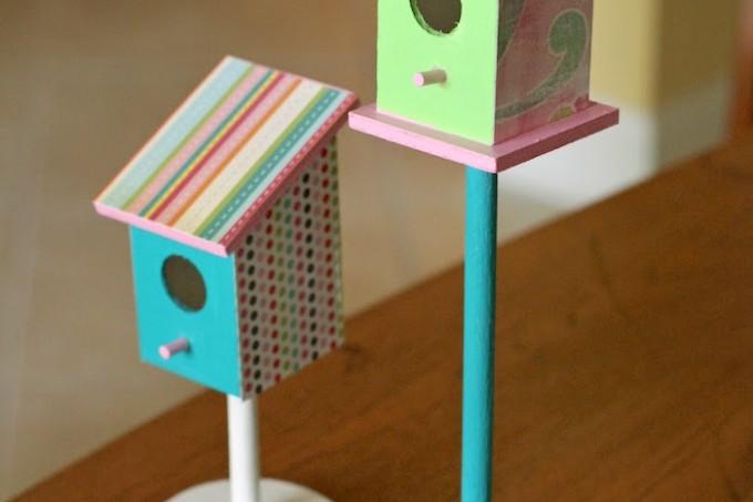 Mod Podge birdhouse