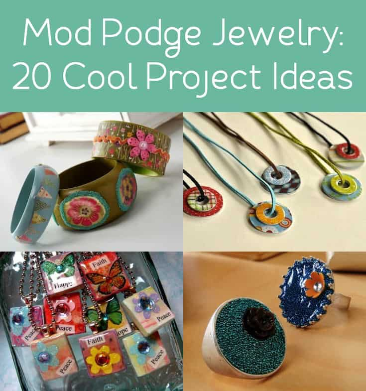 If you've never tried Mod Podge jewelry before, you're missing out! Decoupage jewelry is fun, easy and great for gifts. Just add Mod Podge!