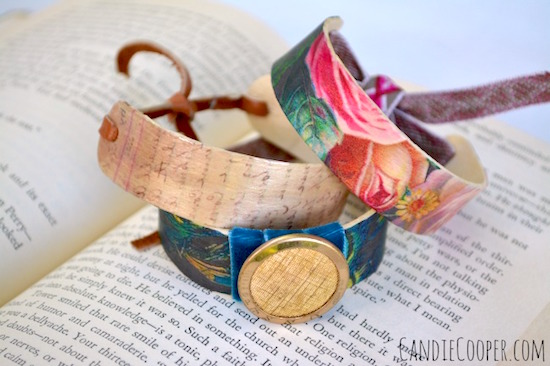 Mod Podge popsicle stick bracelets