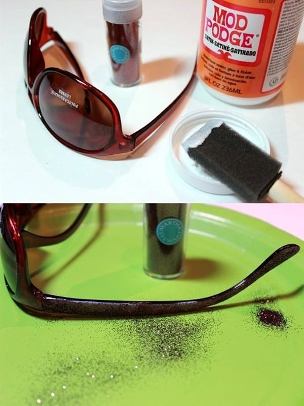 add-glitter-to-sunglasses-craft