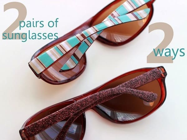 These personalized sunglasses are so cool! You'll use two methods - one with glitter and the other with paper and Dimensional Magic.