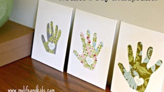 Easy Kids' Handprint Art for Mother's Day