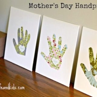 This mothers day craft for kids is one that you can treasure year after year - this cute handprint art is a perfect gift idea!