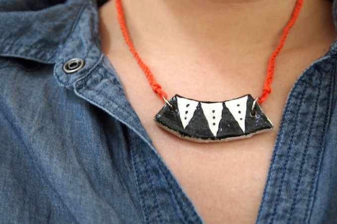 DIY salt dough necklace