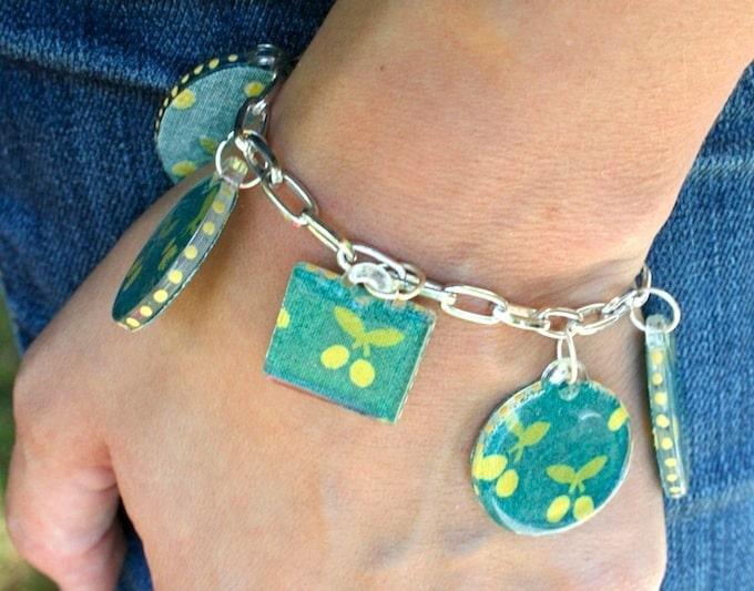 Mod Podge DIY charm bracelet tutorial