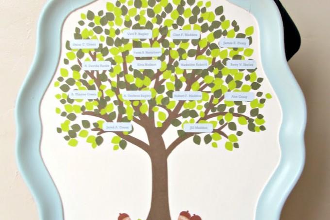 Make a family tree tray