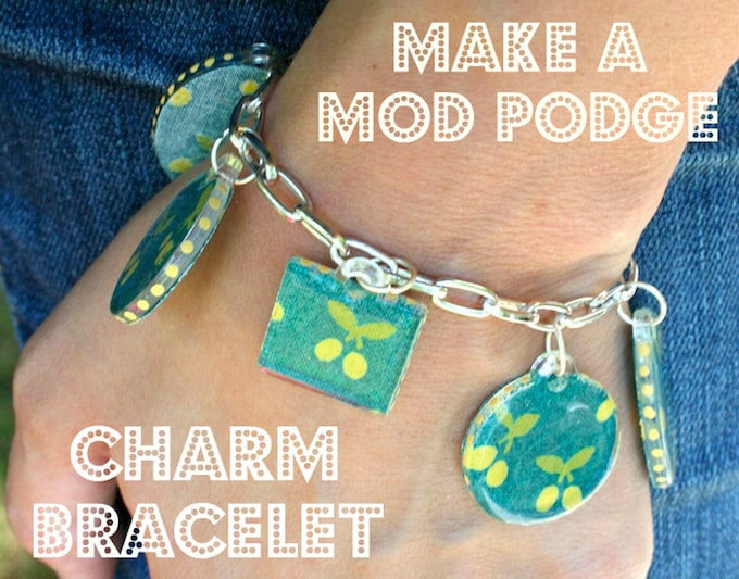 Mod Podge DIY charm bracelet tutorial