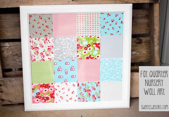 Mod Podge Patchwork Fabric Art