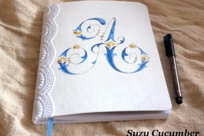 Mod Podged monogrammed notebook