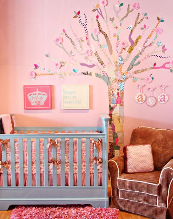 Decoupage nursery tree