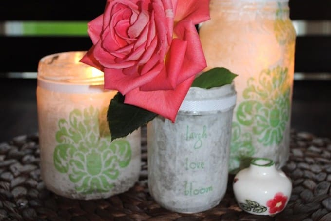 Fancy and pretty Mod Podge paper lanterns