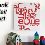 Junk mail craft - DIY canvas art