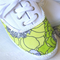 Fabric Covered Tennis Shoes
