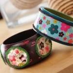 Make Mod Podge bangle bracelets - add Dimensional Magic!