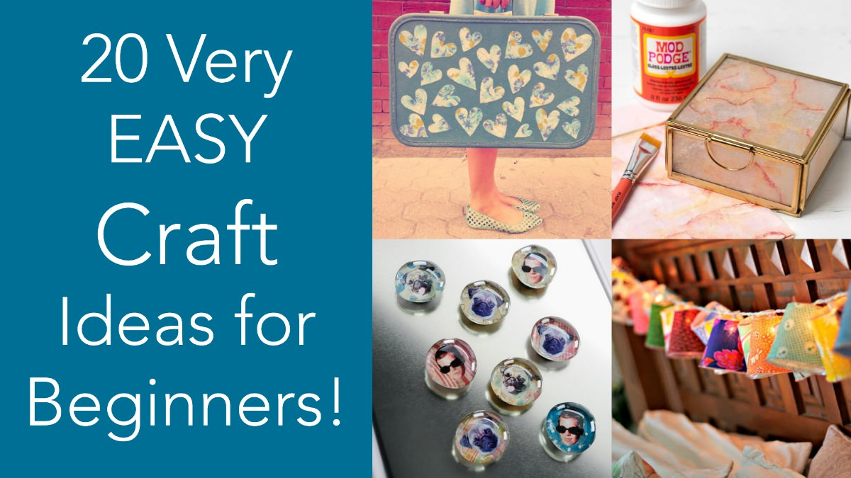 20 Easy Mod Podge Craft Ideas For Beginners Mod Podge Rocks