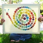Polka dot snail canvas