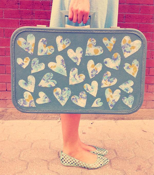 Mod Podge a suitcase