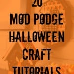 Halloween is one of my favorite holidays! I can't wait for you to check out these 20+ Mod Podge craft projects just for Halloween. Enjoy!