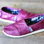 DIY sparkle Toms shoes