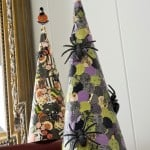Make paper spider cones for Halloween