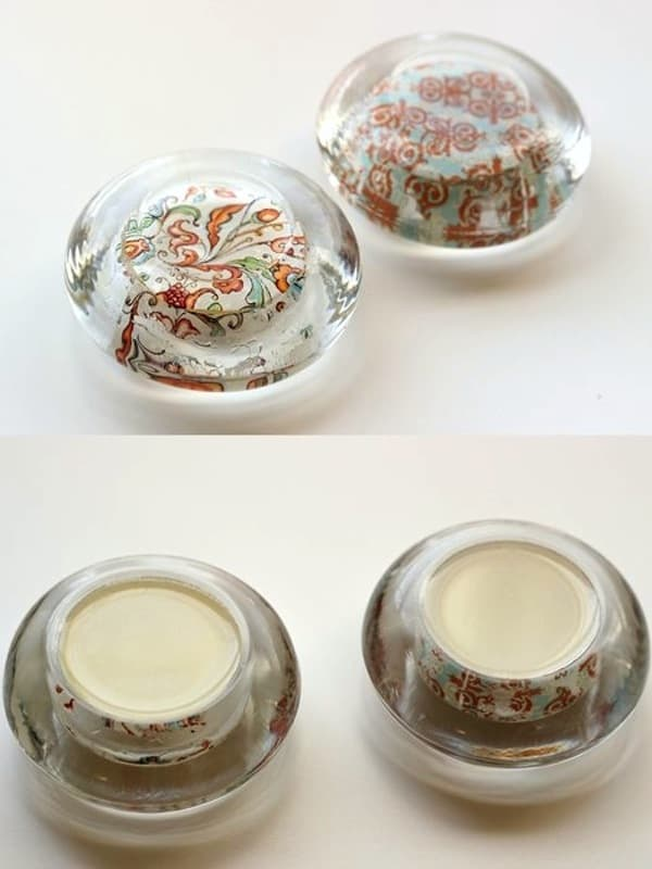 Diy paperweights from glass candle holders mod podge rocks for How to make glass candle holders