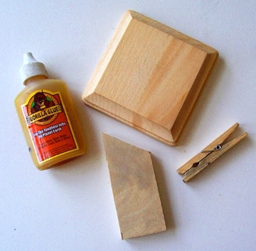 Supplies to make a recipe holder