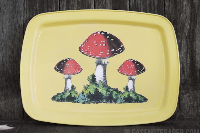 DIY mushroom serving tray