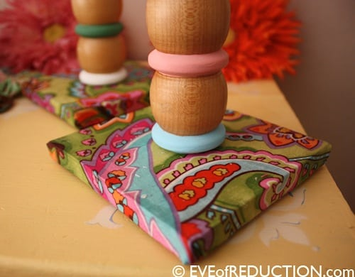 How to make candle holders out of crib parts