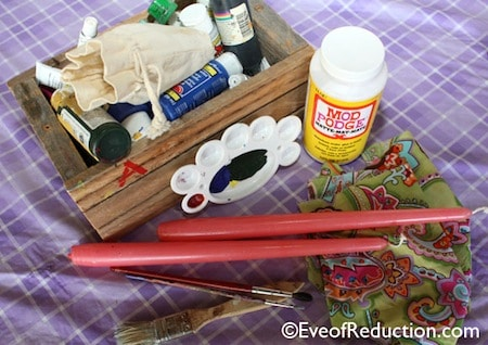 Decorative supplies for making DIY candle holders