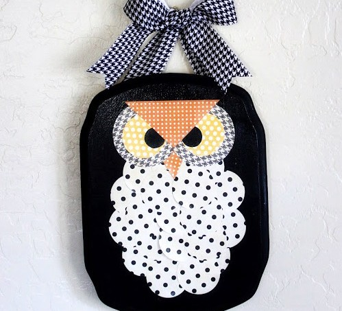 Halloween Owl plaque