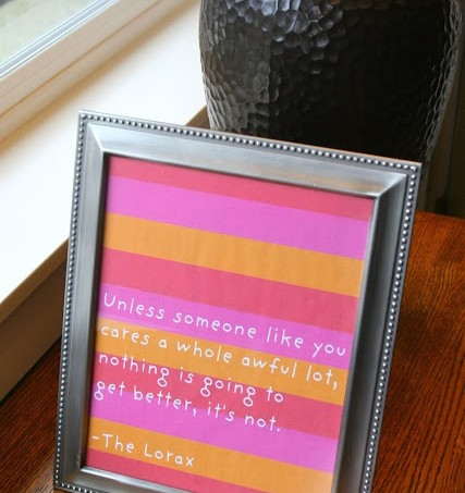 Download a FREE Dr. Seuss' The Lorax quote printable