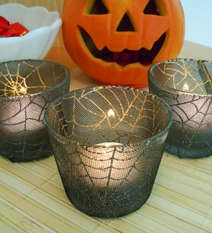 ModPodge Lace Votives