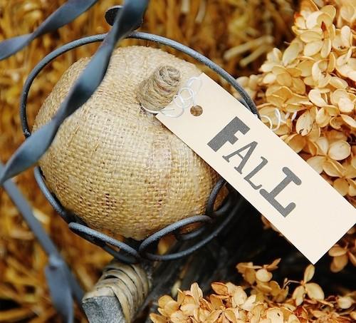 DIY burlap pumpkins