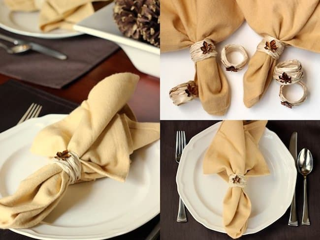 Make DIY napkin rings for fall using an unlikely supply - a balloon kit!  These